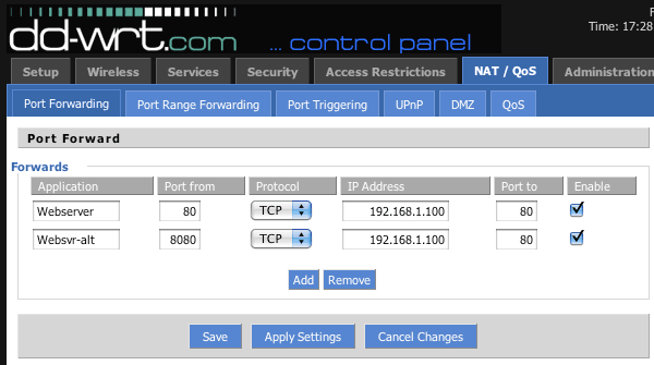 Port Forwarding Settings for Mycloudnas on non Upnp Router - QNAP
